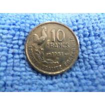 Moeda França - Galo - 10 Francs 1951 B ( Beaumont )