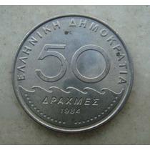 4047 - Grecia 50 Drachma, Apaxmai 1984 - 30mm, Niquel