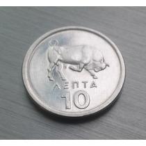 Moeda Da Grécia - 10 Lepta - 1978 - Não Circulada - Fc
