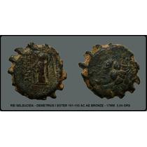 Super Rara Moeda Grecia Antiga Demetrius I 161-150 Ac #mf093