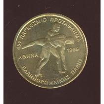 Moeda Grécia Campeonato De Wrestlers 100 Drachmas 1999 30 Mm