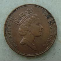 2145 Inglaterra 2 New Pence, 1994 , Bronze, 26 Mm, Elizabeth