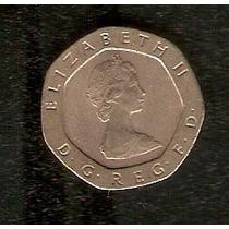 Moeda Inglaterra 20 Twenty Pence 1982