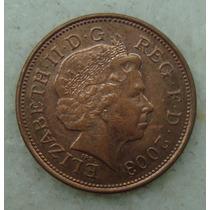 2143 Inglaterra 2 New Pence, 2003 , Bronze, 26 Mm, Elizabeth