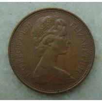 2147 Inglaterra 2 New Pence, 1971 , Bronze, 26 Mm, Elizabeth