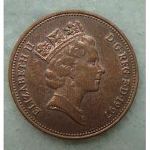 2186 Inglaterra 1997 Two Pence Elizabeth I I 26mm - Bronze
