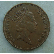 2307 Inglaterra 1990 Two Pence Elizabeth I I 26mm - Bronze