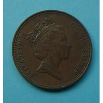 25 - Inglaterra 2 New Pence 1989, 26mm Elizabeth - Bronze