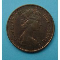 55 - Inglaterra 2 New Pence 1980, 26mm Elizabeth - Bronze