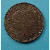 24 - Inglaterra 2 New Pence 2003, 26mm Elizabeth - Bronze