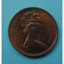 29 - Inglaterra 2 New Pence 1980, 26mm Elizabeth - Bronze