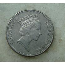 9696 - Inglaterra 1992, 10 New Pence - 24mm - Niquel