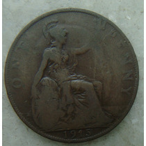 1073 - Inglaterra 1915 One Penny, Bronze, Georgivs V, 31 Mm