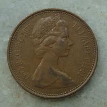 Inglaterra 2 New Pence, 1971 , Bronze, 26 Mm, Elizabeth
