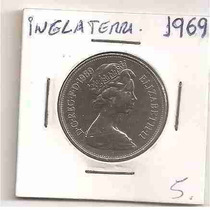 Ml-3124 Moeda Inglaterra (10 New Pence) 28mm 1969