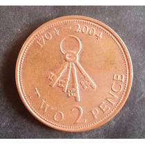 Moedas Inglaterra Dois 2 Two Pence - Gibraltar 1704 - 2004