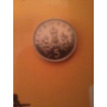 Antiga Moeda 5 Pence