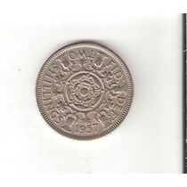 Linda Moeda Da Inglaterra - 2 Shillings 1957 - Vejam A Foto