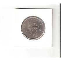 Linda Moeda Da Inglaterra - 10 New Pence 1974 - Vejam A Foto