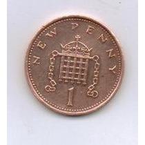 Linda Moeda Inglaterra 5 New Penny 1979