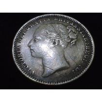 Rara Moeda (uk) Inglaterra One Shilling 1883 Prata.925