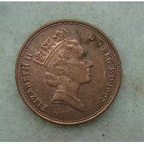 1526 Inglaterra Elizabeth 1997 Two Pence 26mm - Bronze Aço