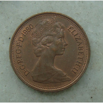 1527 Inglaterra Elizabeth 1980 Two Pence 26mm - Bronze Aço