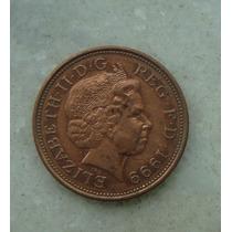 1550 Inglaterra 2 New Pence, 1999 , Bronze, 26 Mm, Elizabeth