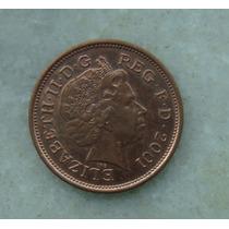 1560 Inglaterra 2 New Pence, 2001 , Elizabeth Bronze, 26 Mm
