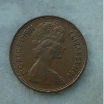1590 Inglaterra 1981 Two Pence Elizabeth I I 26mm - Bronze