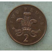 1612 Inglaterra 2002 Two Pence Elizabeth I I 26mm - Bronze