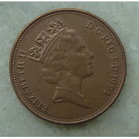 1697 Inglaterra 1994 Two Pence Elizabeth I I 26mm - Bronze