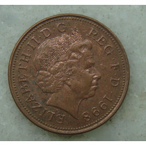1701 Inglaterra 1998 Two Pence Elizabeth I I 26mm - Bronze