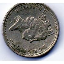 Moeda De Coleção One Pound 1990, Inglaterra, Elizabeth Ii