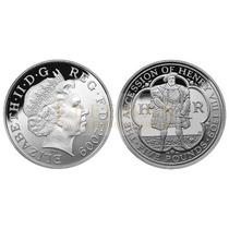 5941 Inglaterra 5 Pounds 2009 Prata Rei Henry Viii Piedfort
