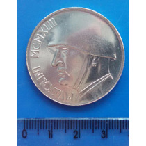 Segunda Mundial - Mussolini - 20 Liras - Bronze Prat Itália