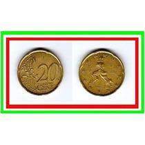 Moeda Itália 20 Cents .de Euro 2002 * Escultura Futurista
