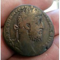 Moeda Antiga ,sestércio De Commodus Império Romano