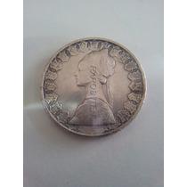 Moeda 500 Liras Republica Italiana 1966 Prata