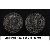 Moeda Imperio Romano Constancio Ii 18mm Roma Antiga