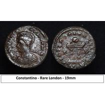 Moeda Imperio Romano Constantino - Raro London Roma Antiga