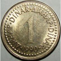 Moeda Da Iugoslávia - 1 Dinar - 1990