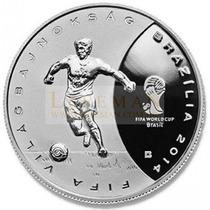 6239 Hungria 3.000 Forint 2013 Prata Proof Copa Do Mundo 201