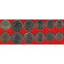 Lote 06 Moedas Da Iugoslavia 1 - 100 Dinara 1993 Fc
