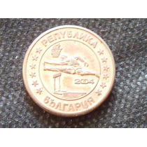 Raridade - Moeda Prova Da Bulgária Para Coleção Ano De 2004