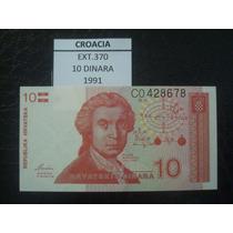 (ext.370) Croacia - 10 Dinara - 1991 - Fe