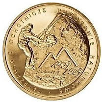 Nova Polônia Moeda Comemorativa Mountains Rescue 2009 Fc