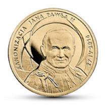 Moeda Polônia Comemorat Papa João Paulo Canonização 2014 Fc
