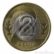 Polônia Moeda Bimetalica 2 Zloty, Datas Variadas