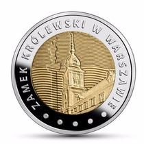 Polônia Moeda Bimetalica 5zl 2014 Castelo Real Varsovia Fc